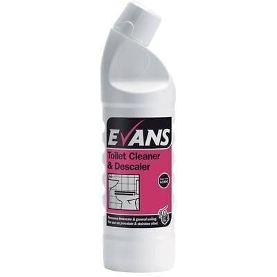 Evans Toilet Cleaner And Descaler 1LTR X 12