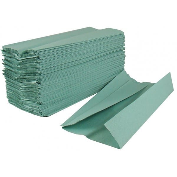 Hand Towels 1 Ply C-Fold GREEN X 2730