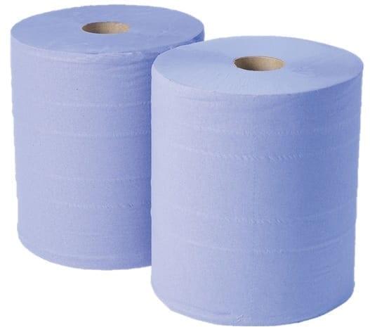 Wiper Rolls 2 Ply BLUE  400Mx36CM 1000 Sheets X 2 0515
