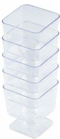 Mashers Mini Square Taster CLEAR 55Ml Plastic X 360