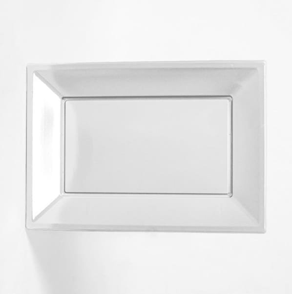 Rectangular Plates Clear 9''