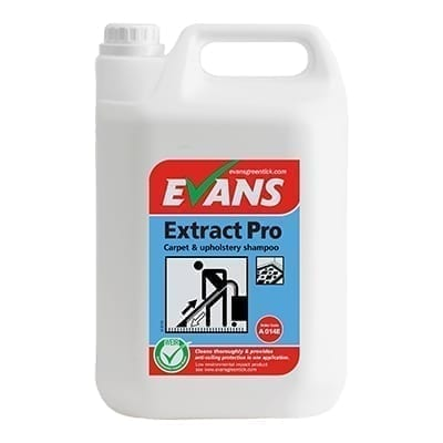 Evans Extract Pro Carpet And Upholstery Shampoo 5LTR X 2