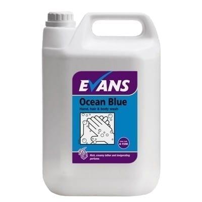 Evans Ocean BLUE Revitalising Hand Hair and Body Wash 5LTR X 2