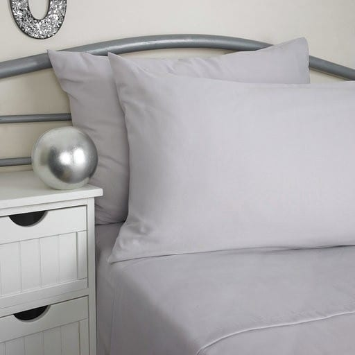 Softguard FR Fitted Bed Sheet SILVER Single