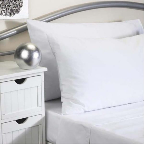 Pillowcase WHITE Pair