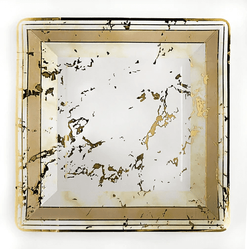 Paper Plates Marble Design GOLD 7'' 10 X 24 3142