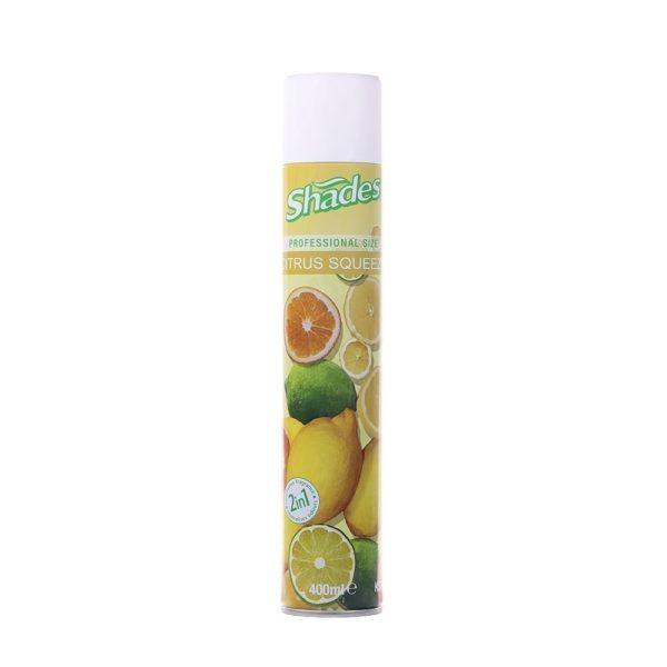 Shades Aerosol Citrus Squeeze Air Freshener 400ML X 12