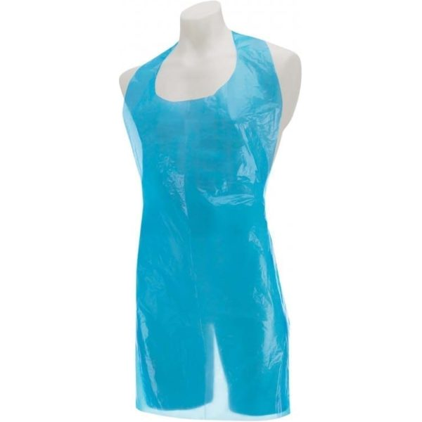 Aprons Disposable - Flat Pack BLUE 27x42''  X 100