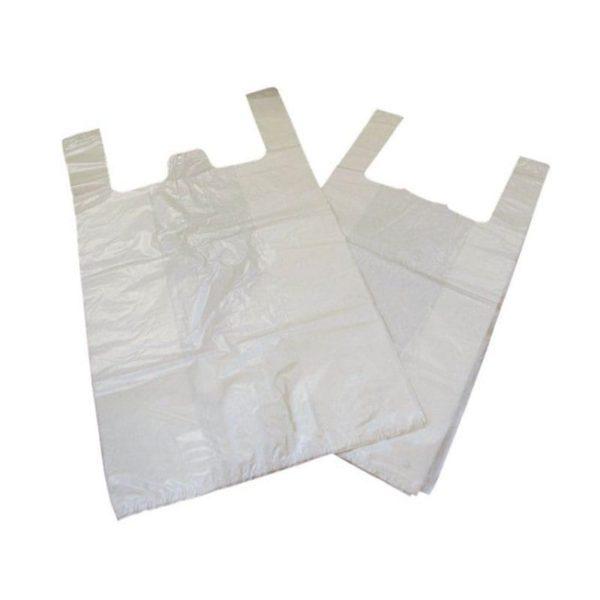 Carrier Bag WHITE 'Lynx' Jumbo 15''  X 13''  X 1000