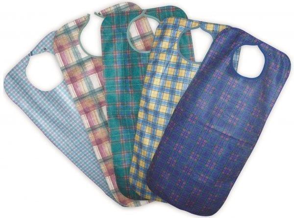 Adult Cloth Bib Washable Assorted Colours 90X45CM