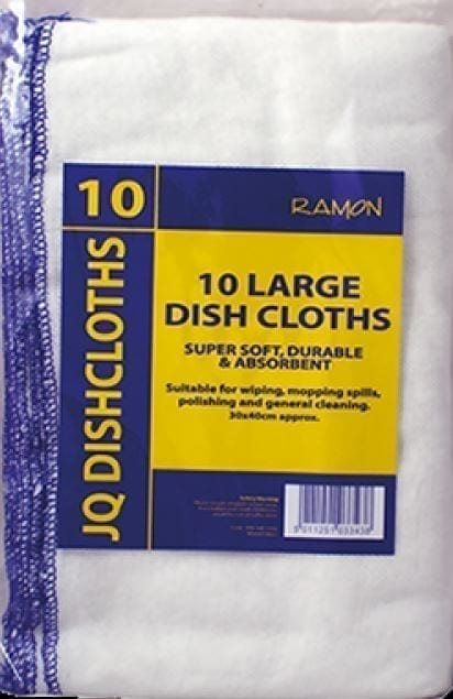 JQ Dishcloths BLUE Large 30x40CM X 10