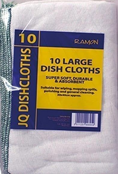 JQ Dishcloths GREEN Large 30x40CM X 10