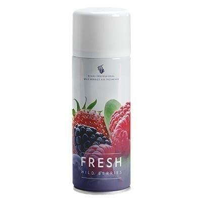 Evans Fresh Wild Berries (Aerosol) Air and Fabric Freshener 400Ml X 12