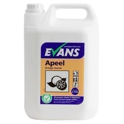 Evans Apeel ORANGE Neutral Hard Surface Cleaner 5LTR