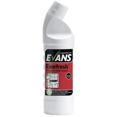 Evans Everfresh Pot Pourri Toilet and Washroom Cleaner 1LTR X 6