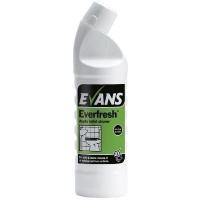 Evans Everfresh Apple Toilet And Washroom Cleaner 1LTR X 6