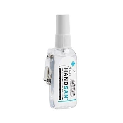Evans Handsan Clip Bottle 70% Alcohol-Based Hand Disinfectant 75ML X 12