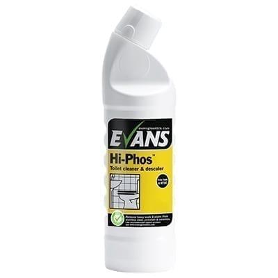 Evans Hi-Phos Heavy Duty Washroom And Toilet Cleaner And Descaler 1LTR X 6