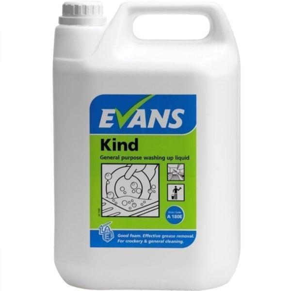 Evans Kind General Purpose Washing Up Liquid 5LTR
