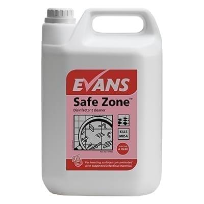 Evans Safe Zone Disinfectant Cleaner 5LTR