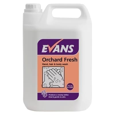 Evans Orchard Fresh Refreshing Hand, Hair And Body Wash 5LTR