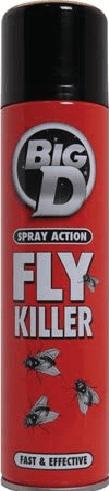 Big D/Active Fly Spray 300Ml X 6