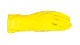 Household Rubber Gloves YELLOW Large