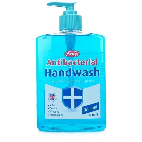 Certex Handwash Antibacterial Soap BLUE 500ML X 12