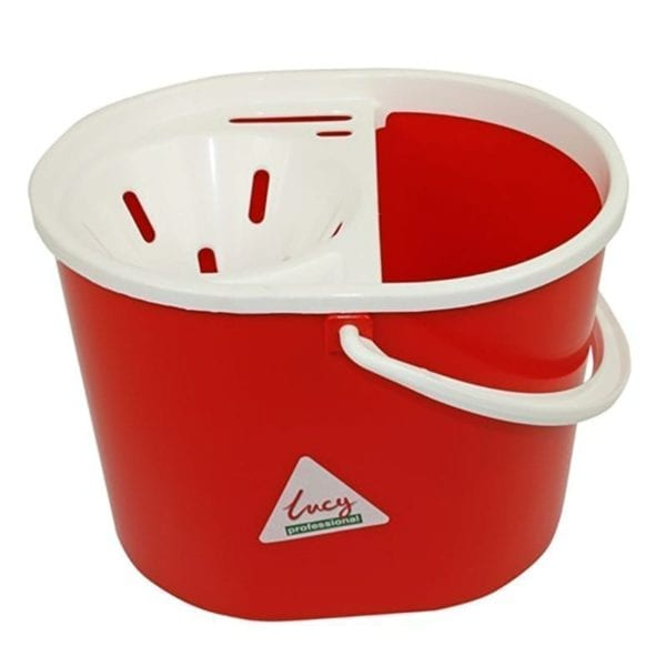 Lucy SYR Mop Bucket & Sieve RED 15LTR
