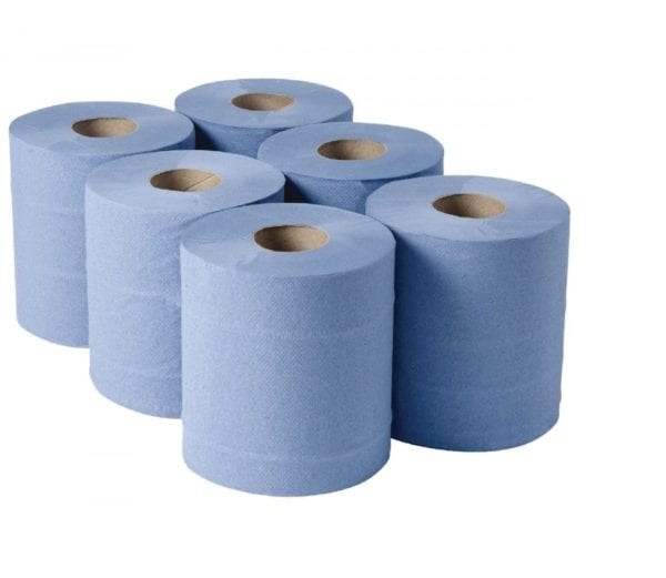 Hygiene Rolls 2 Ply BLUE 10''  X 18