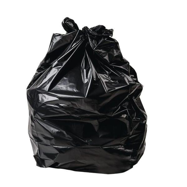 Refuse Sacks Medium Duty BLACK 18X9X28''  90L 10kg X 200