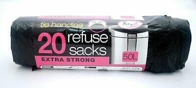 Refuse Sacks Tie Handle 50Ltr X 20S