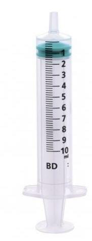 BD Emerald 10ML Luer Slip Centric Tip Syringe 1 X 100