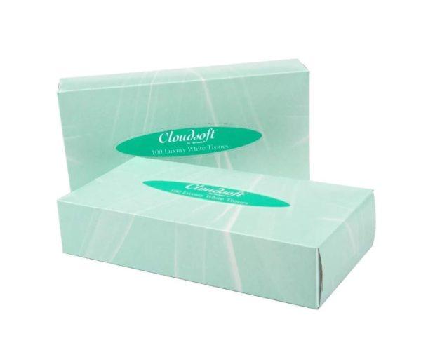 Cloudsoft Facial Tissues WHITE 100 X 36