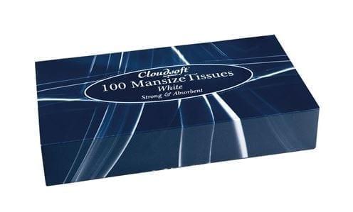 Cloudsoft Mansize Tissues 100 X 24
