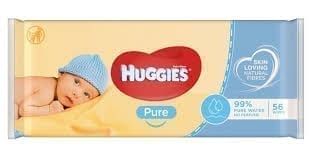 Huggies Baby Wipes Pure 72 X 10