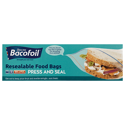 Bacofoil Resealable Food Bags Large