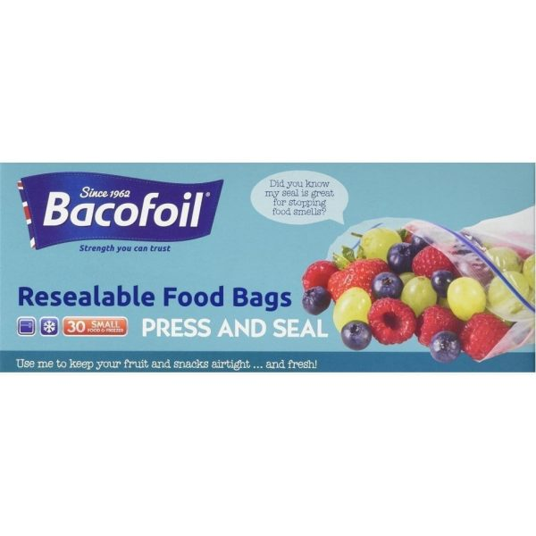 Baco Zip And Seal Freezer Bags Small 1L 25 X 12