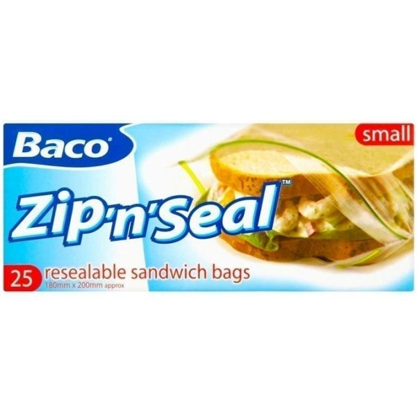 Baco Zip And Seal Bags X 25