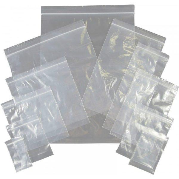 No.4 Self Seal Bags Grip Seal 40 Micron 3.5x4.5'' X 1000
