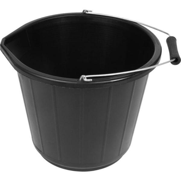 Undertable Bin BLACK  Plastic 14Ltr