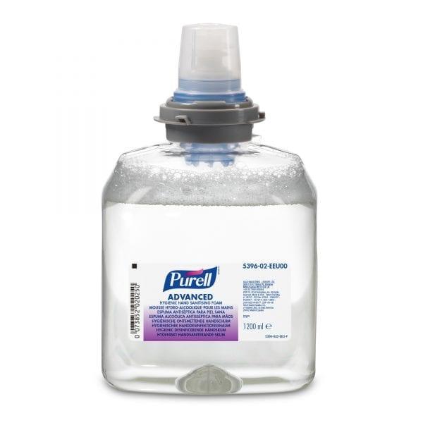 Gojo Purell Advanced Hygienic Hand Sanitising Foam 1200ML X 2 5396