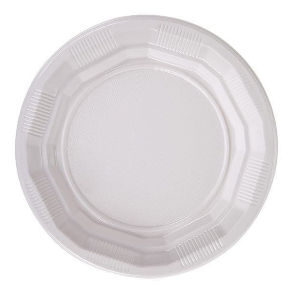Plastic Plate Choice Dining WHITE 7''