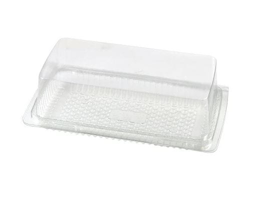 Mashers Rectangular Cake Container with lid CLEAR Plastic X 200