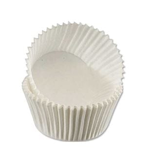 Muffin Cases Tub WHITE 75 X 24