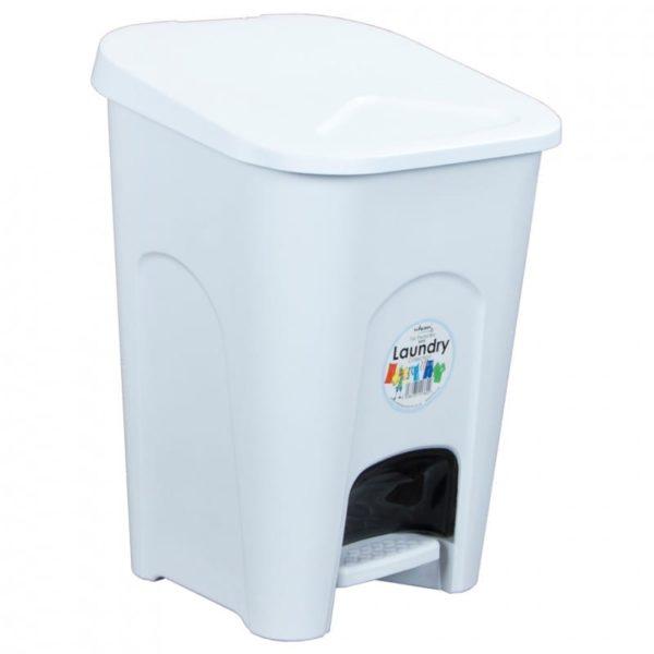 Bathroom Pedal Bin WHITE 16LTR