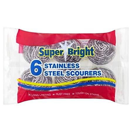 Super Bright Stainless Steel Scourer 6 X 10