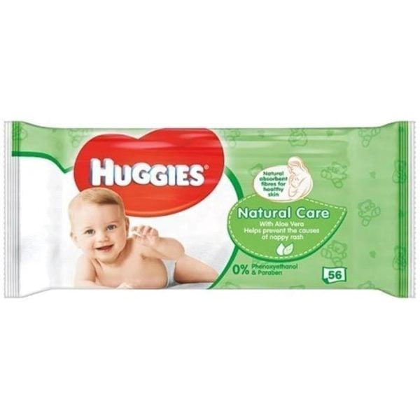 Huggies Baby Wipes Nat Care 56's X 10