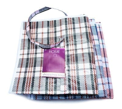 Shopping Bag Striped Large Assorted X 12