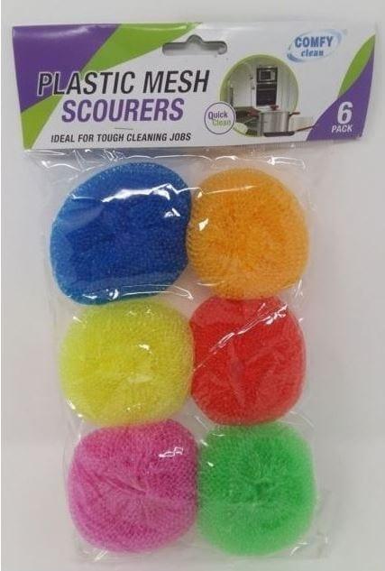 Plastic Scourer Pads X 6